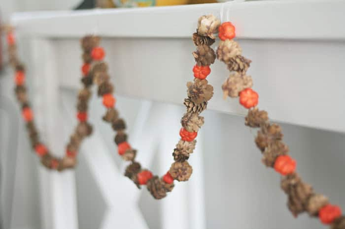 Budget friendly fall garland