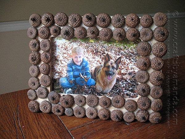 DIY acorn frame