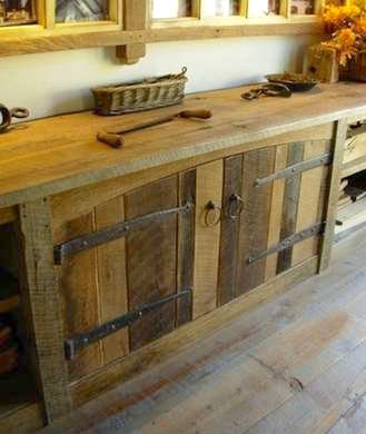 Make a repurposed wood cabinet