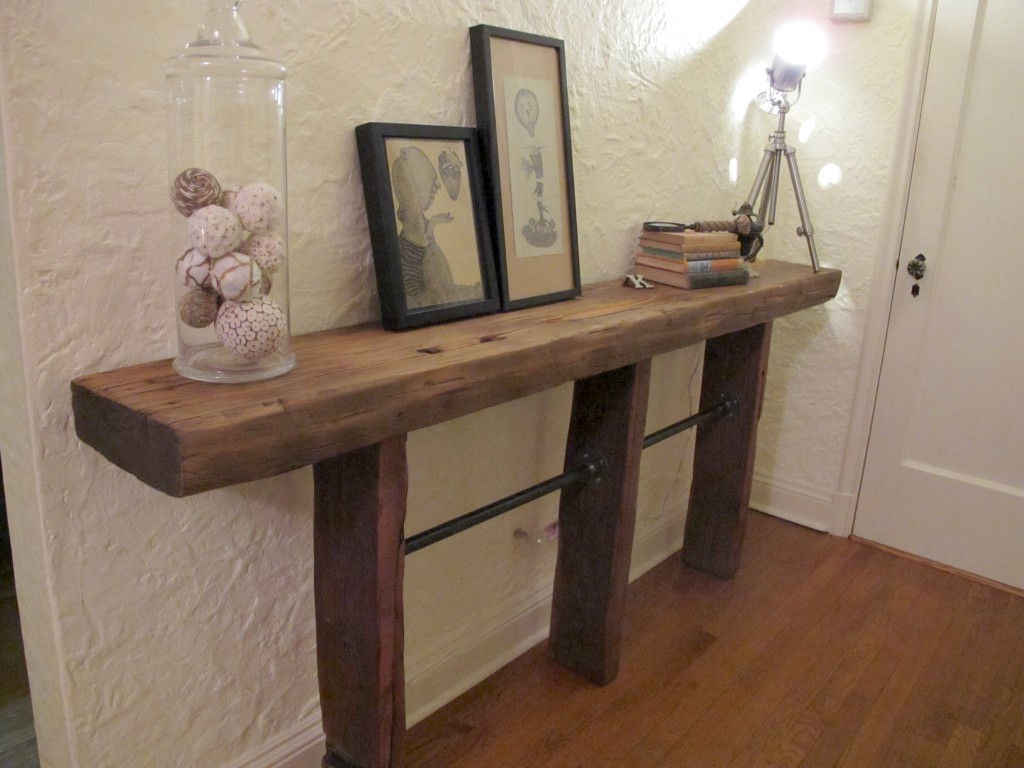 Reclaimed Wood DIY Side Table