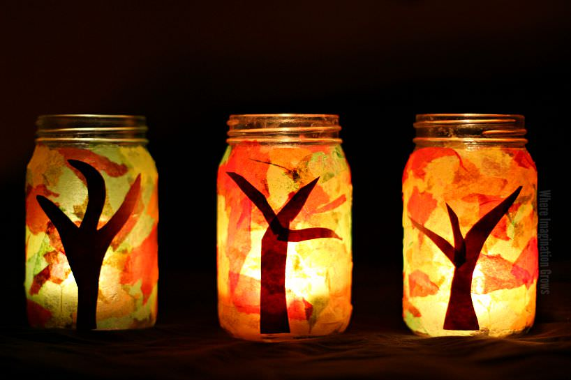 mason jar fall luminaries
