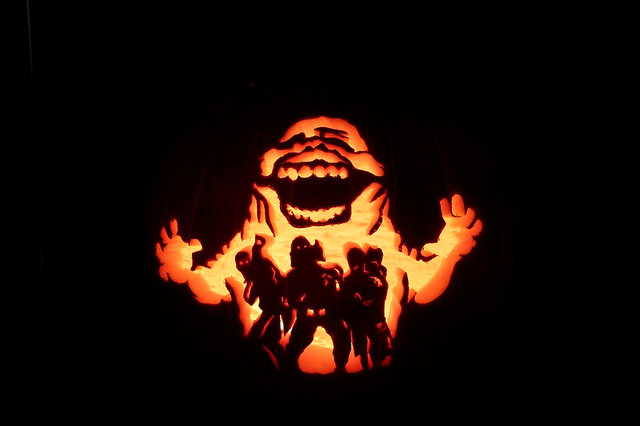 Ghostbusters pumpkin carving