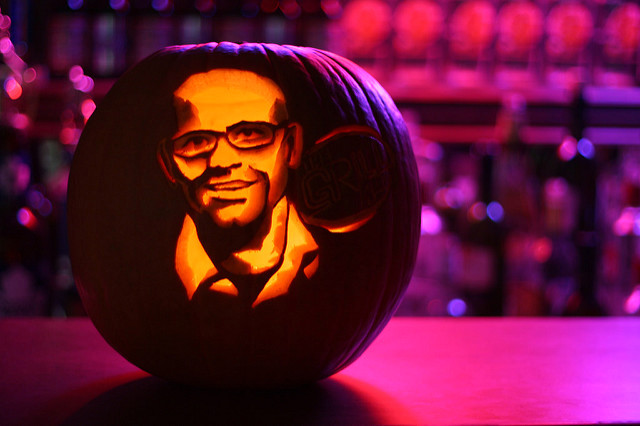 Portrait pumpkin carving