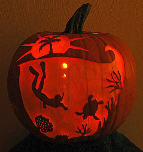 Under the sea pumpkin carving