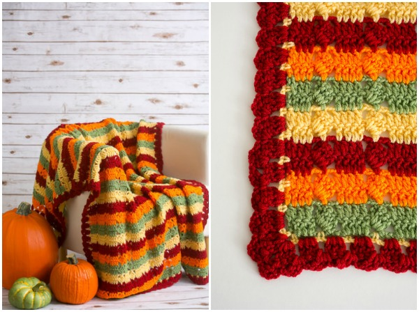 Autumn Fields Throw Free Fall Crochet Pattern