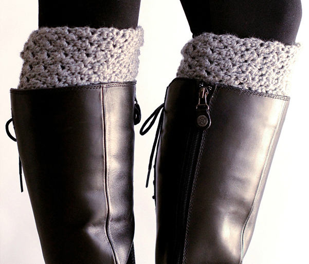 Easy crochet boot cuffs free pattern