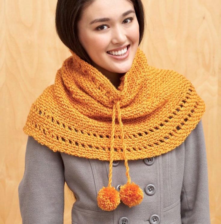 Fall poncho pattern