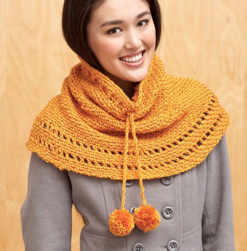 Drawstring cowl free fall crochet pattern