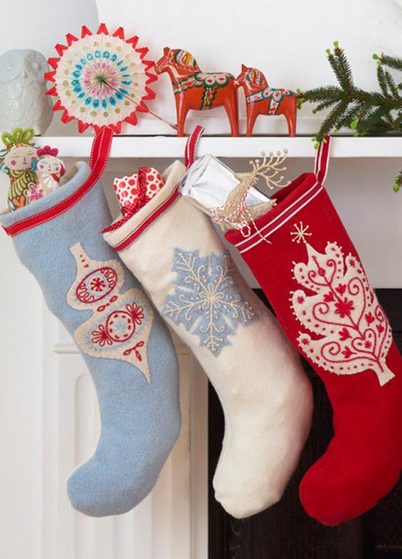 How to make a scandinavian Christmas stocking