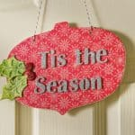 Easy Tis the Season Christmas Plaque Decor