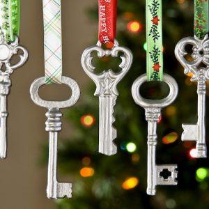 Metallic Key Homemade Christmas Ornaments