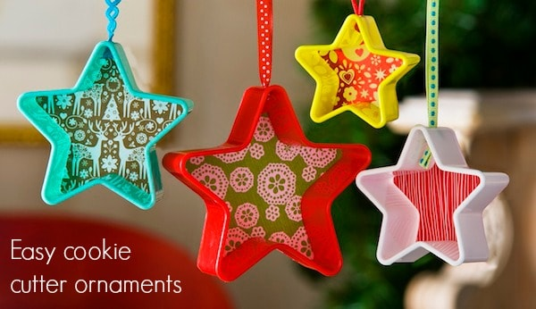 Make easy cookie cutter ornaments for less than $1