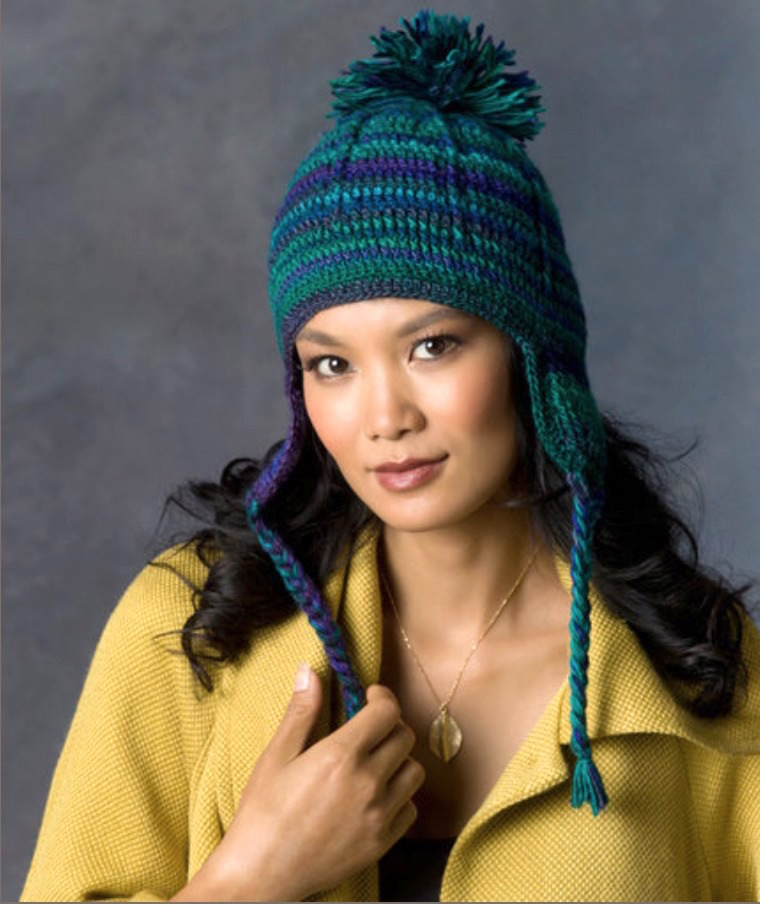 Comfy ear flap free crochet hat pattern