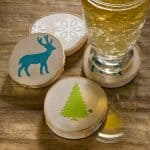 If you love winter or woodland themed crafts, these painted coasters are for you. They only take minutes to make and are perfect for gifts!