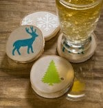DIY Coasters Craft: Winter Woodland