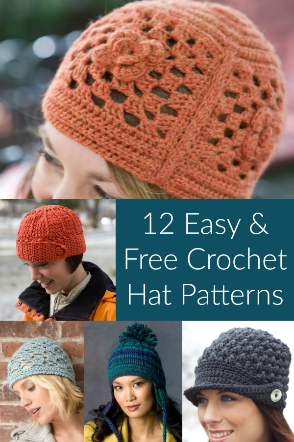 Keep Warm with 12 Easy & Free Crochet Hat Patterns