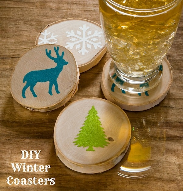Winter Woodland DIY Coasters Craft