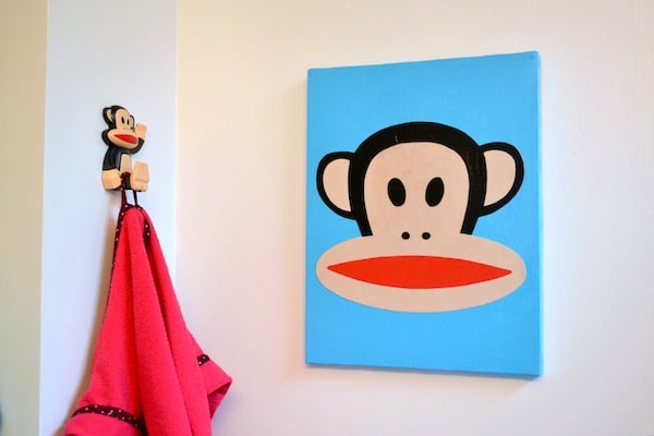 Make a Paul Frank Julius canvas with Mod Podge