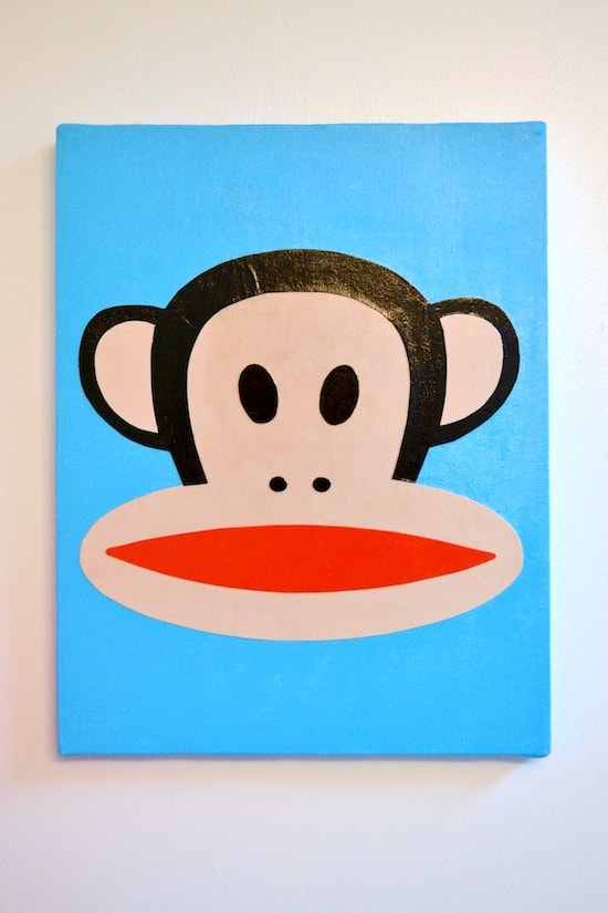 How to decoupage a canvas using a Paul Frank design