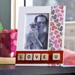 Valentine's Day duck tape frame