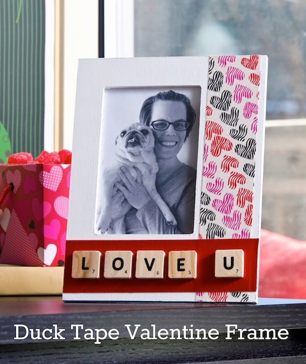 Duck Tape Crafts: Valentine's Day Love U Frame