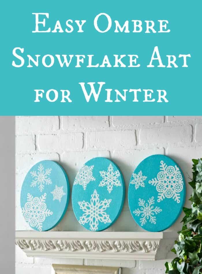 Easy snowflake art for winter