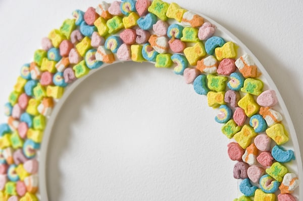 DIY Lucky Charms Wreath detail