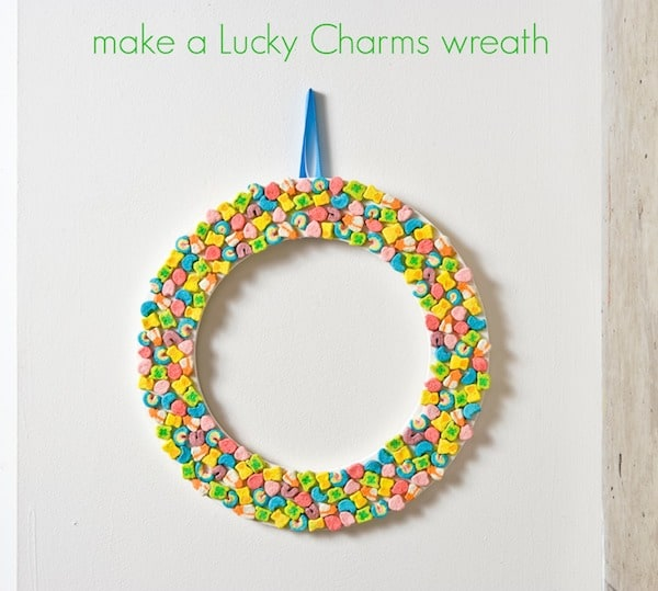 Make a Lucky Charms Wreath for St. Patrick's Day