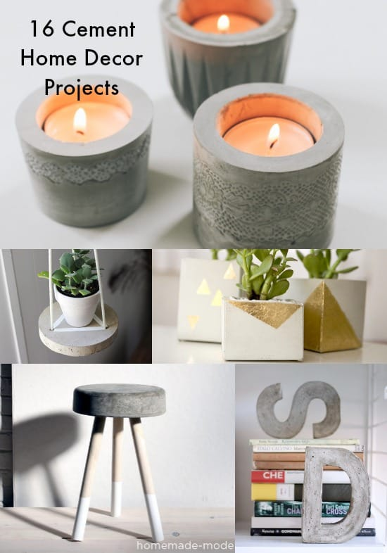 Have You Been Tempted To Try A Concrete Diy Project Here Are 16 Inspirational Ideas