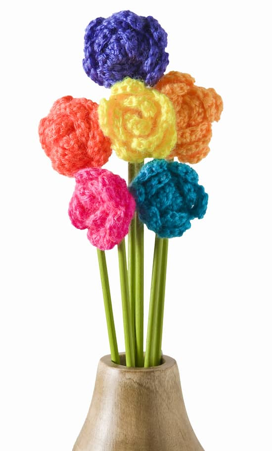 Make a Crochet Flower Bouquet - DIY Candy