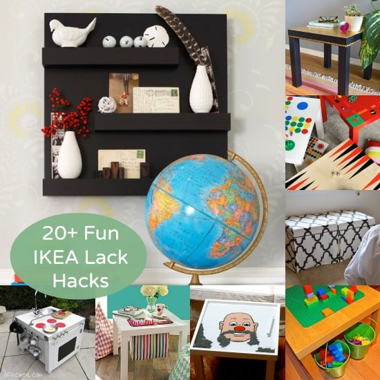 The Lack side table is under $10 at IKEA; If you want to try an IKEA Lack table hack of your own, you'll love this collection of projects!