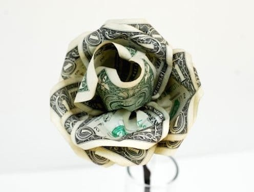 Paper flower money bouquet for graduation
