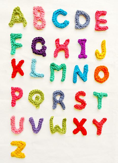 A to Z letter crochet patterns