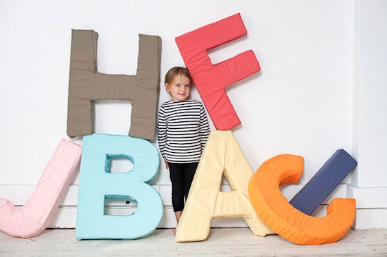 Alphabet letter DIY using foam and fabric