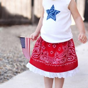 Make a Bandana Girls Skirt