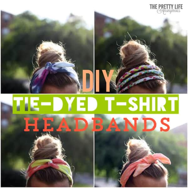 DIY headbands made with tie dye