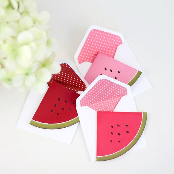 DIY watermelon cards for summer