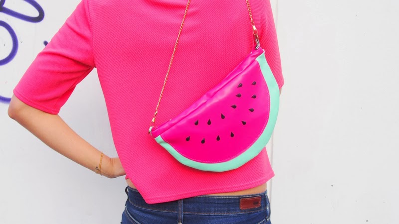 DIY watermelon purse