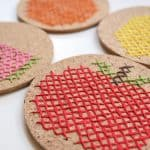 Fruit Embroidered DIY Coasters