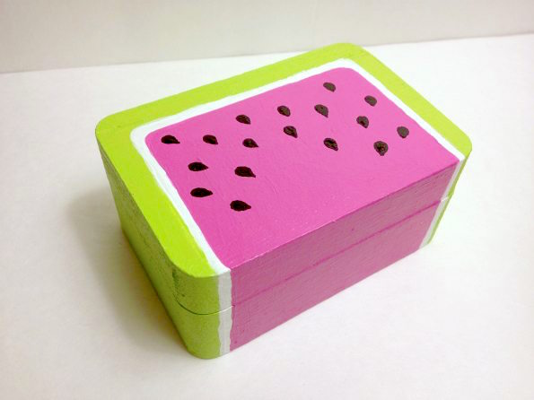 Painted watermelon box