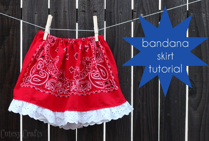How to Sew a Bandana Skirt Tutorial