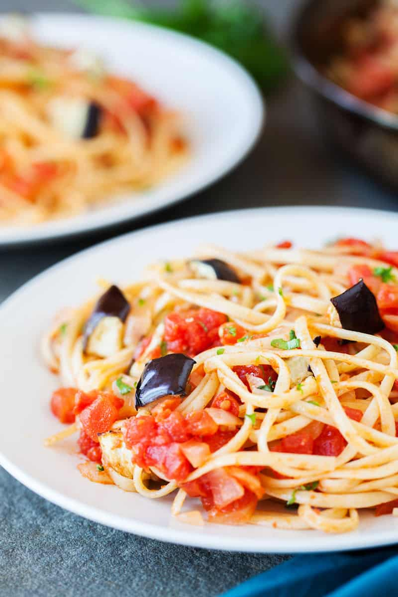 Sun Dried Tomato & Eggplant Linguine Recipe