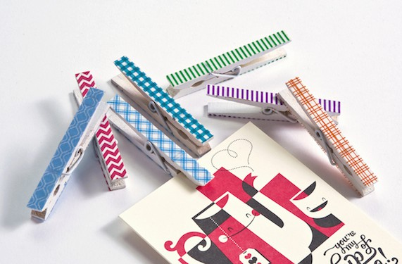 how-to-make-washi-tape-clothespins