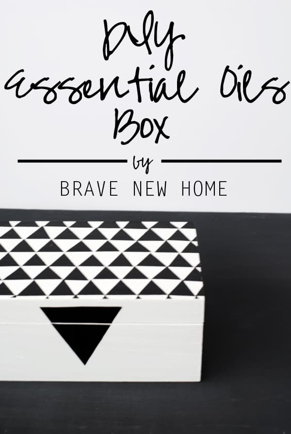 How to decorate an essential oils storage box - never root around in a drawer or basket again!