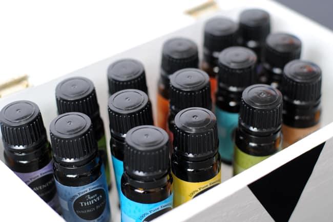 13 - essential oils inside box