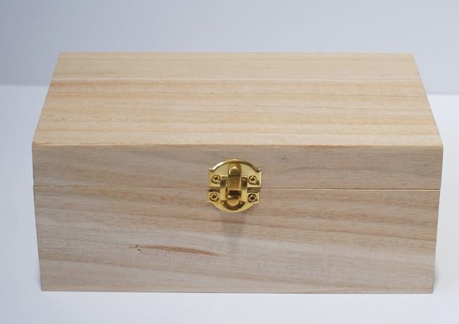 3 - unfinished wood jewelry box
