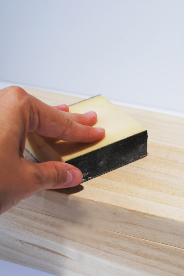 5 - sanding down wood box