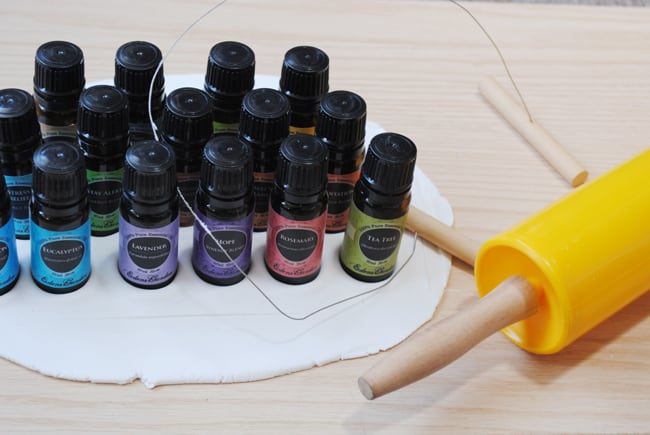 6 - creating form for essential oils in air dry clay