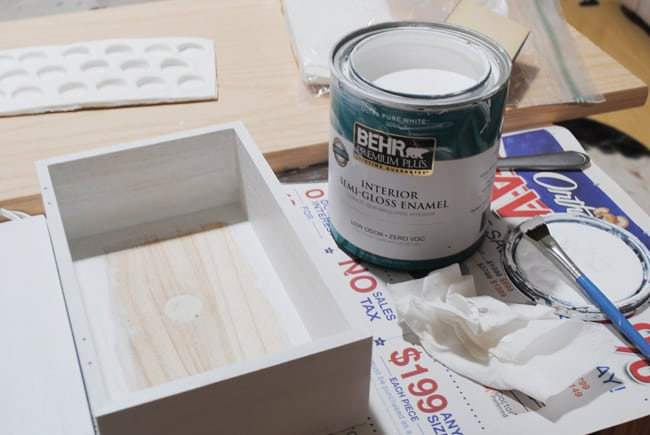 8 - painting wooden box white