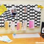 DIY bulletin board from a canvas